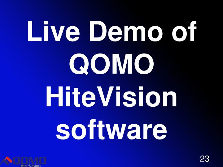 Live Demo of QOMO HiteVision  software