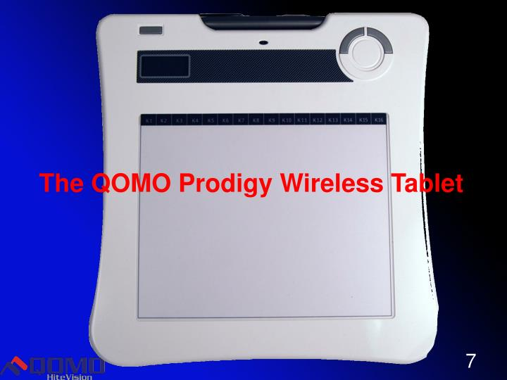 The QOMO Prodigy Wireless Tablet