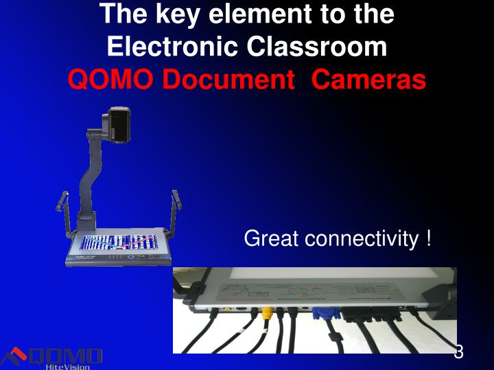 The key element to the electronic classroom qomo document cameras
