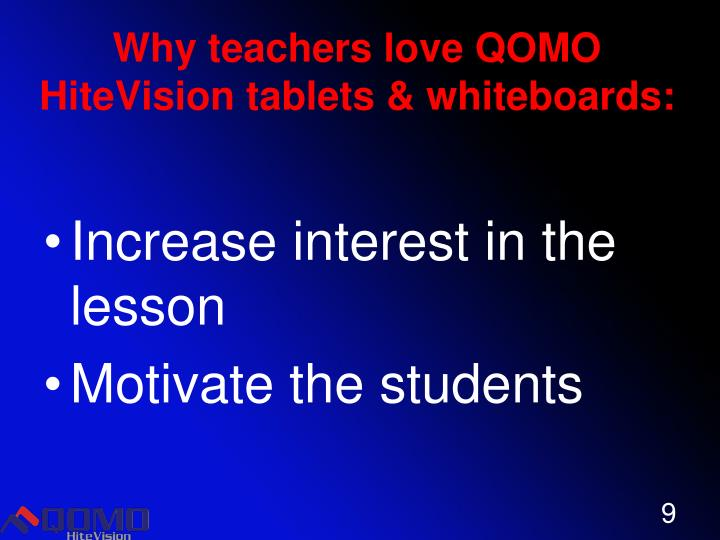 Why teachers love QOMO HiteVision tablets & whiteboards: