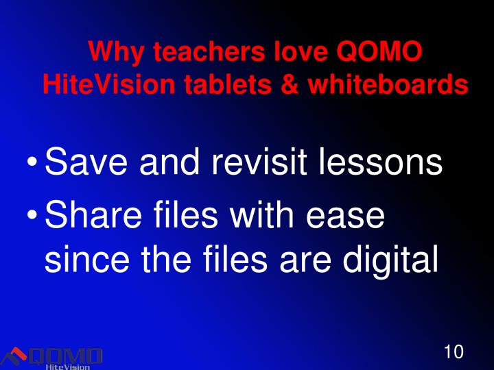 Why teachers love QOMO HiteVision tablets & whiteboards