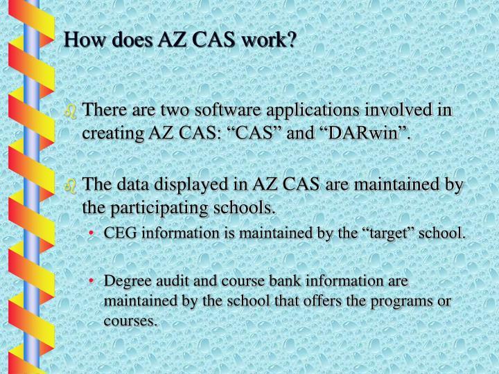 How does AZ CAS work?