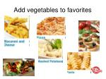add vegetables to favorites