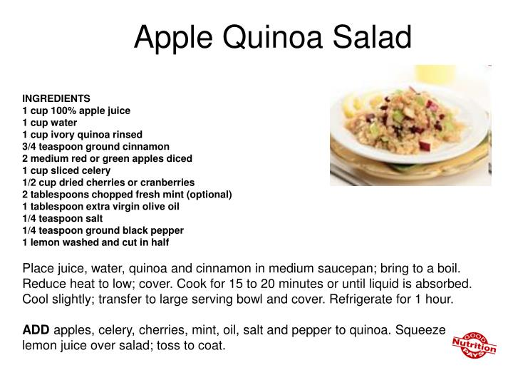 Apple Quinoa Salad