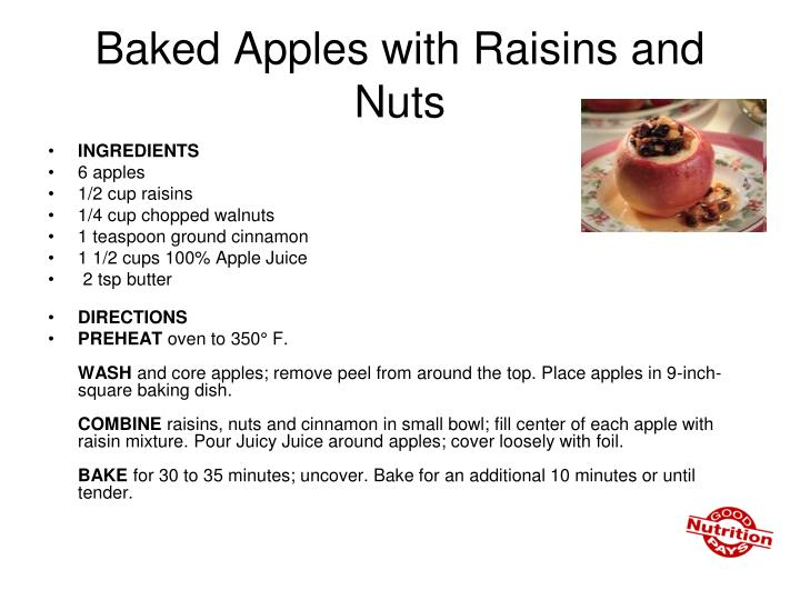 Baked Apples with Raisins and Nuts