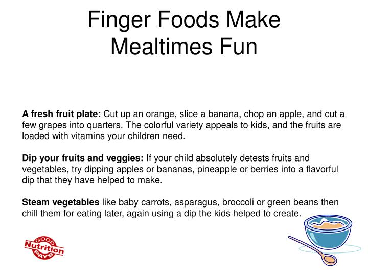 Finger Foods Make