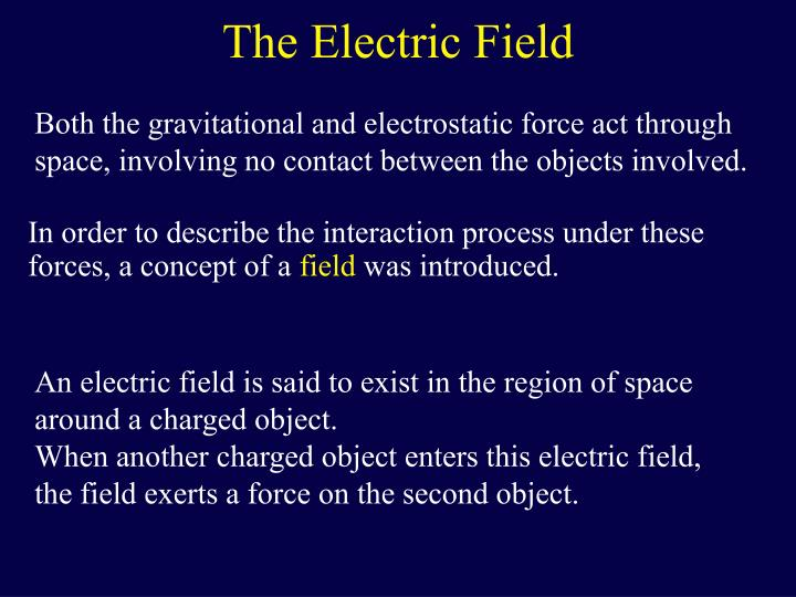 The electric field