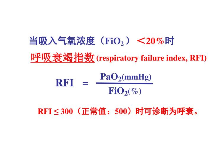 呼吸衰竭指数