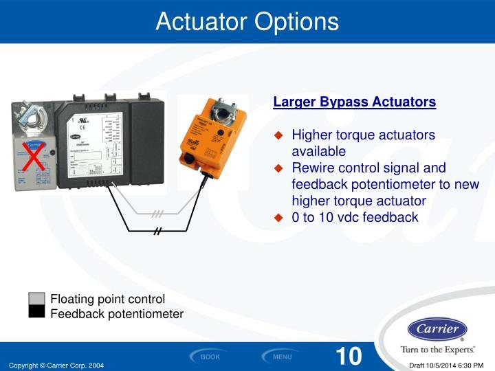 Actuator Options