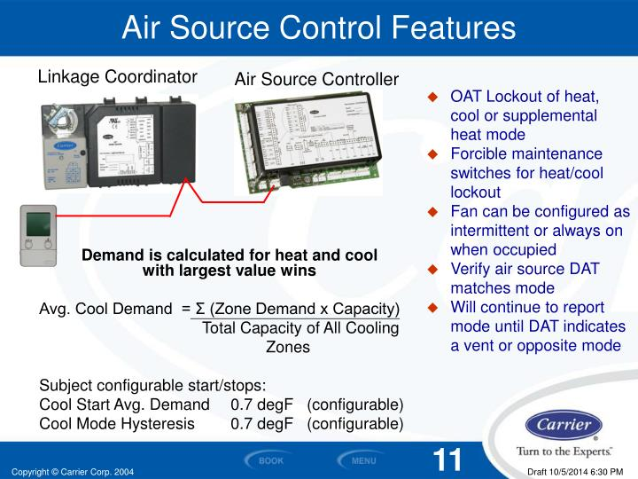 Air Source Control Features