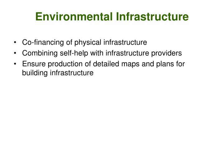 Environmental Infrastructure