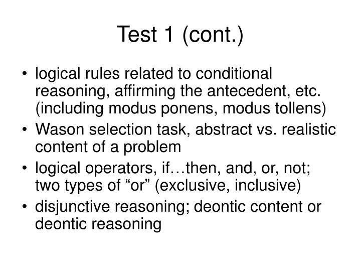 Test 1 (cont.)