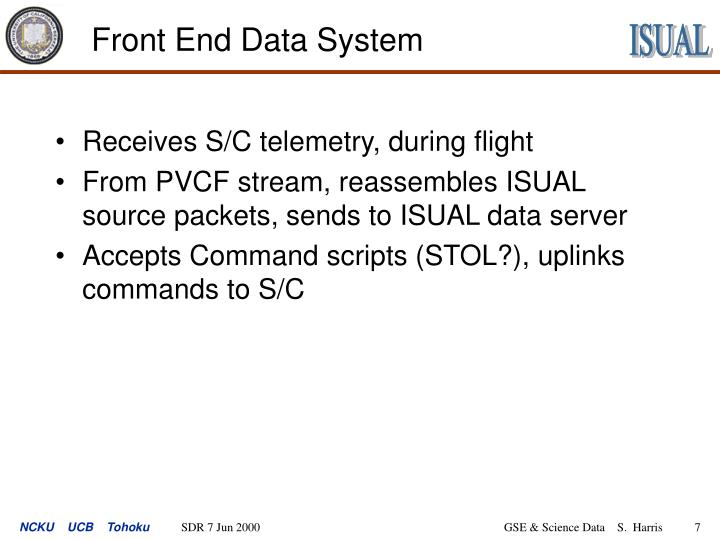Front End Data System