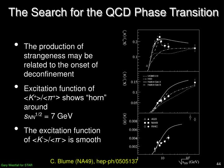 The Search for the QCD Phase Transition