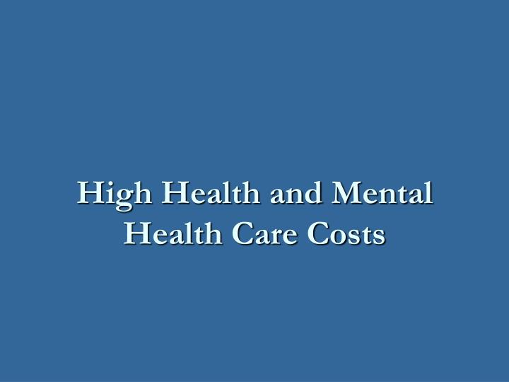 high costs of health care The record cost of health care  price of healthcare reaches all-time high the cost of health care is going up and more and more people are unable to afford.