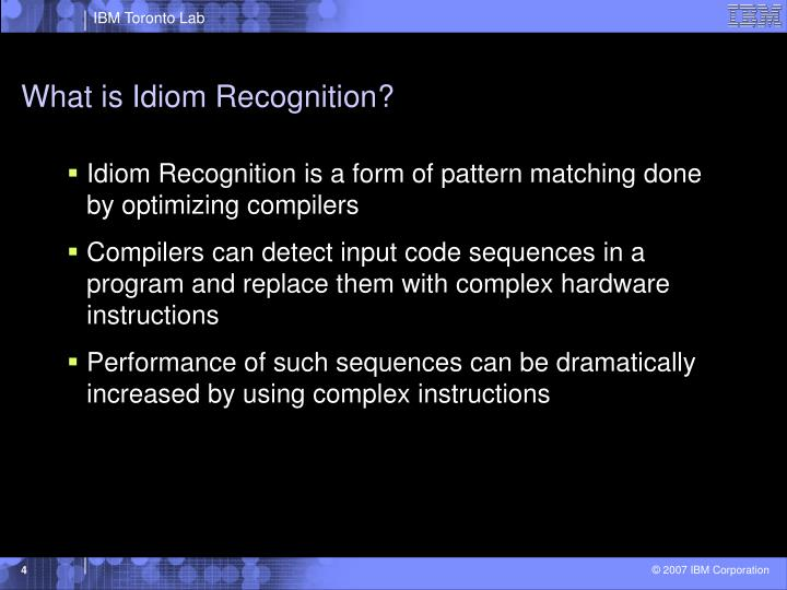 What is Idiom Recognition?