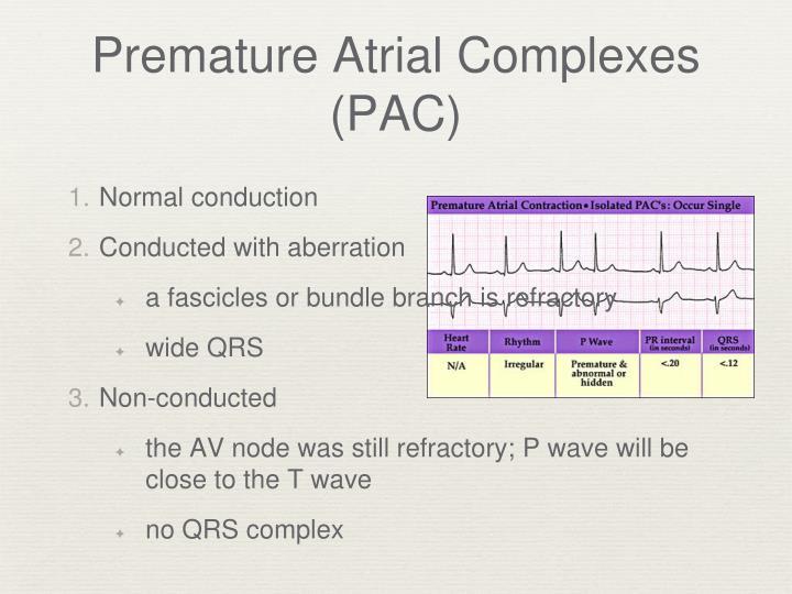 Premature Atrial Complexes (PAC)