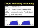 co 2 in ventilatory monitoring