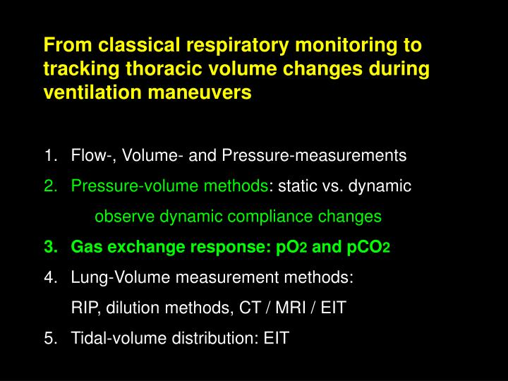 From classical respiratory monitoring to