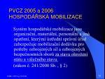 pvcz 2005 a 2006 hospod sk mobilizace