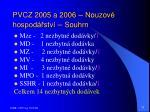 pvcz 2005 a 2006 nouzov hospod stv souhrn