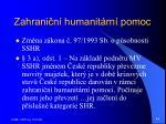 zahrani n humanit rn pomoc