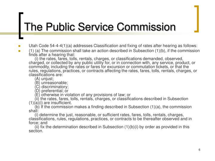 The Public Service Commission