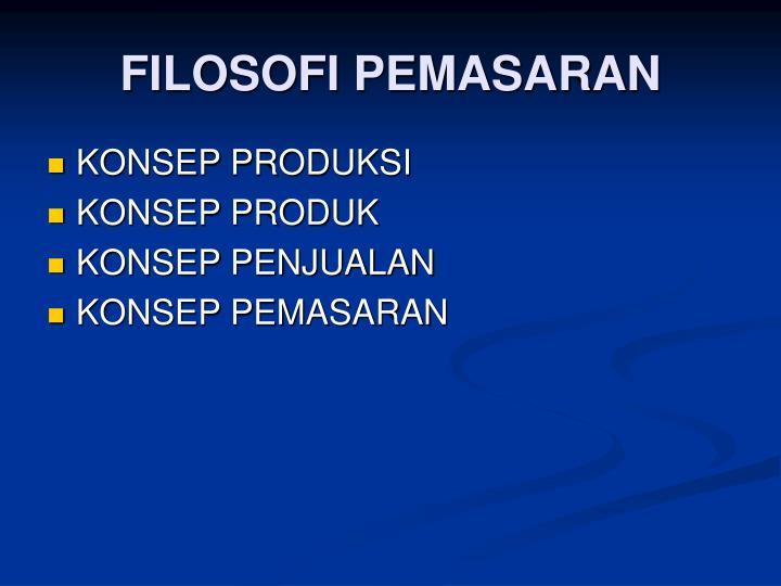 FILOSOFI PEMASARAN
