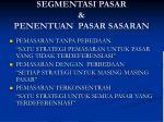 segmentasi pasar penentuan pasar sasaran1