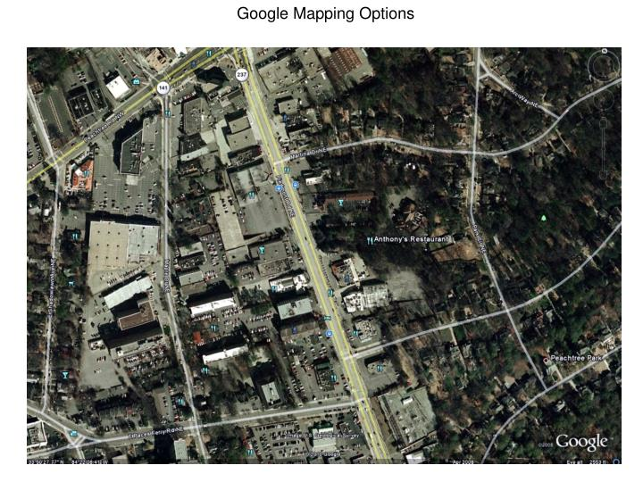 Google Mapping Options