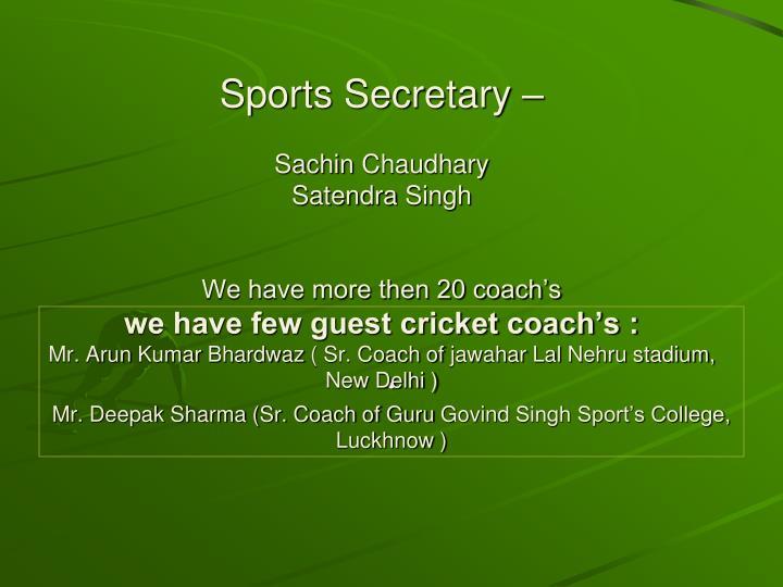 Mr. Deepak Sharma (Sr. Coach of Guru