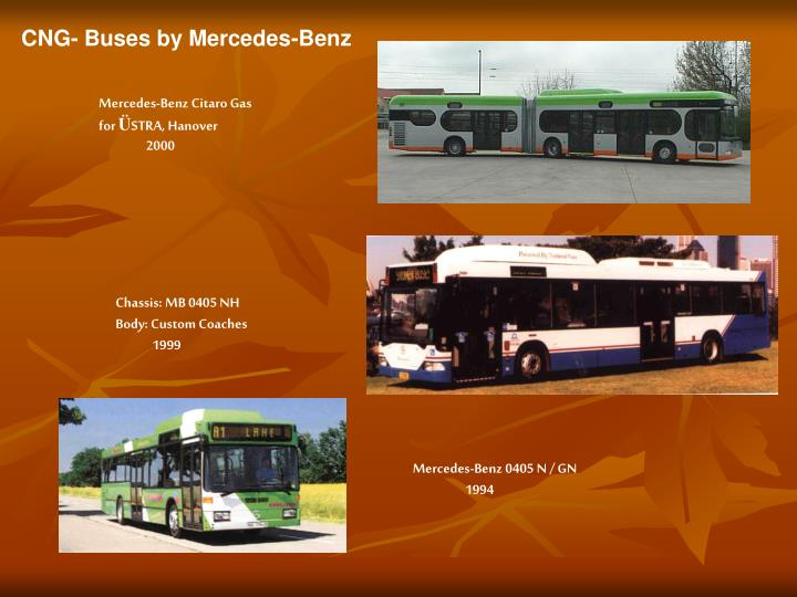 CNG- Buses by Mercedes-Benz