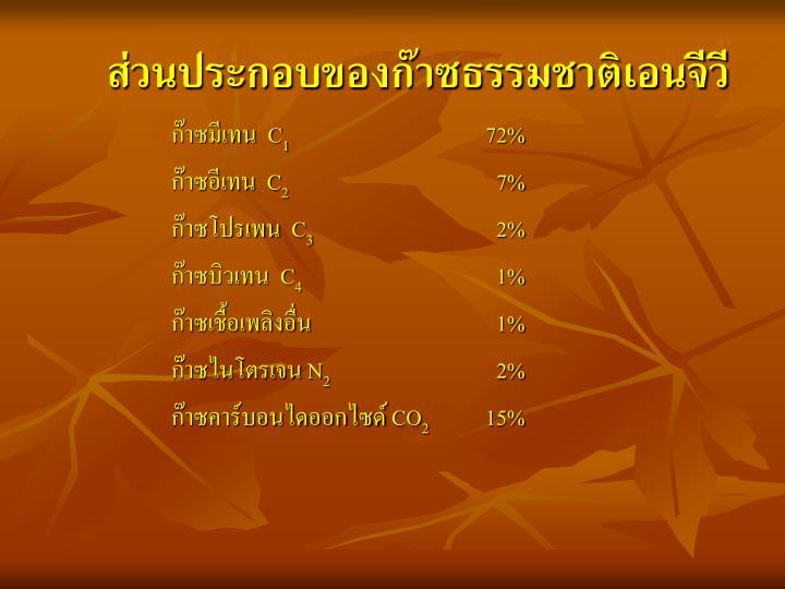 ส่วนประกอบของก๊าซธรรมชาติเอนจีวี