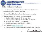 asset management major initiatives1