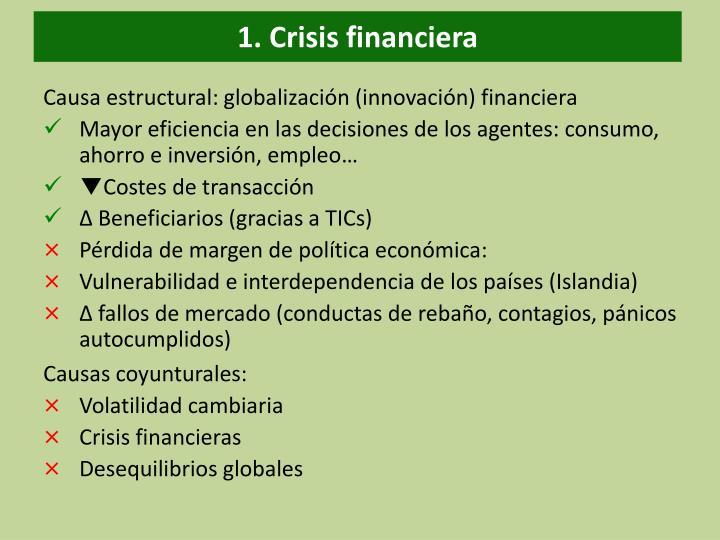 1. Crisis financiera