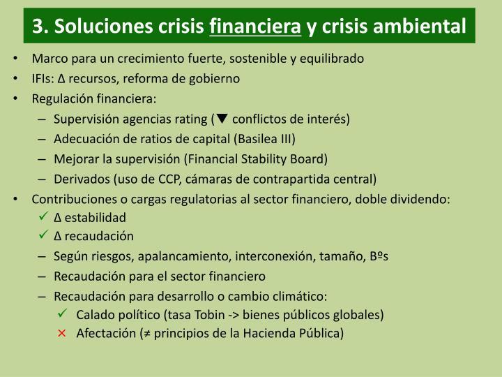 3. Soluciones crisis