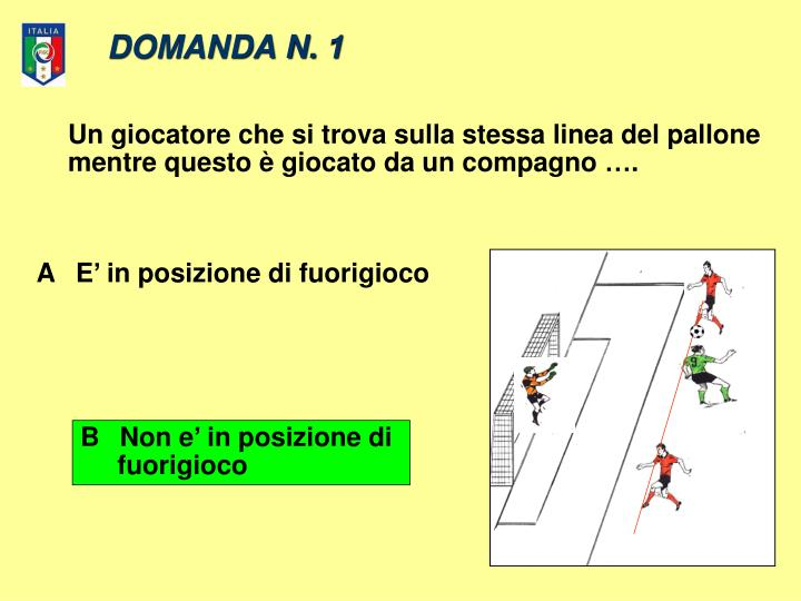 DOMANDA N. 1