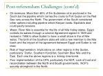 post referendum challenges cont d