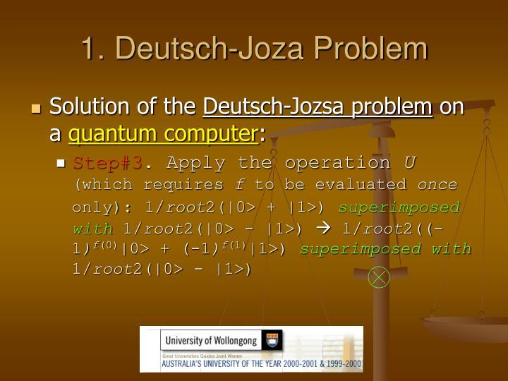 1. Deutsch-Joza Problem