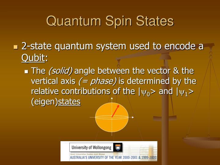 Quantum Spin States