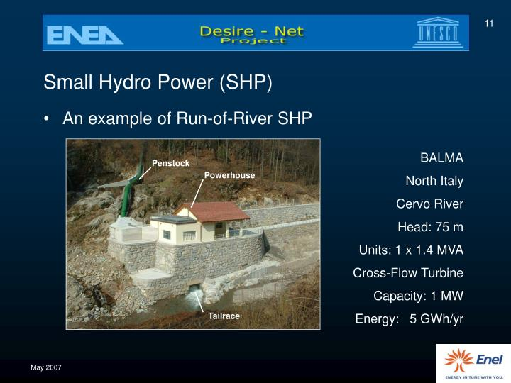 Small Hydro Power (SHP)