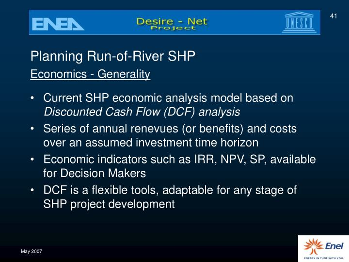 Planning Run-of-River SHP
