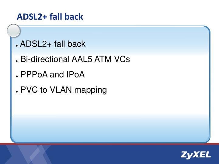 ADSL2+ fall back