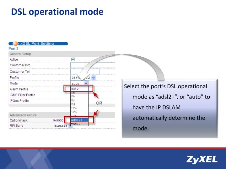 DSL operational mode