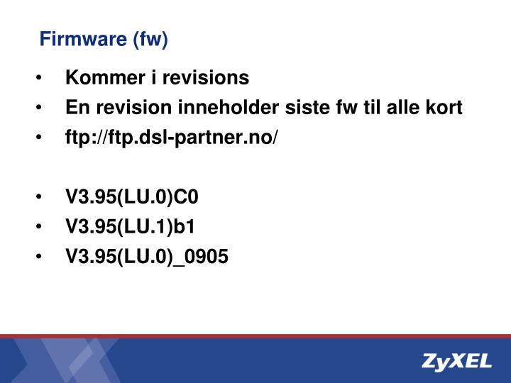 Firmware (fw)