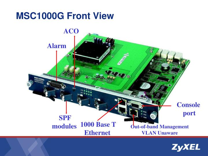 MSC1000G Front View