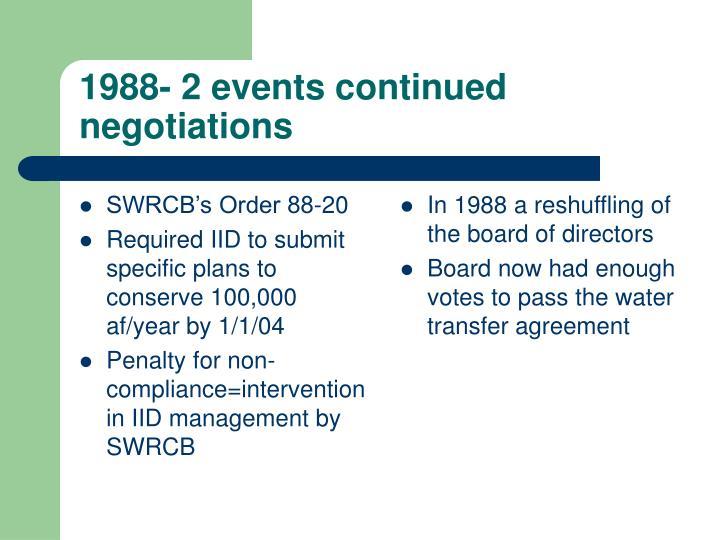 SWRCB's Order 88-20