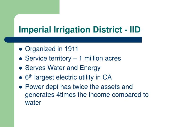 Imperial Irrigation District - IID