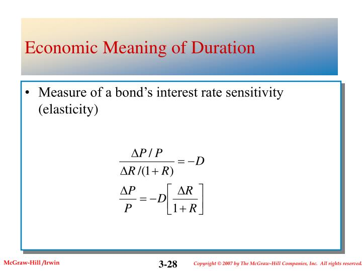 Economic Meaning of Duration