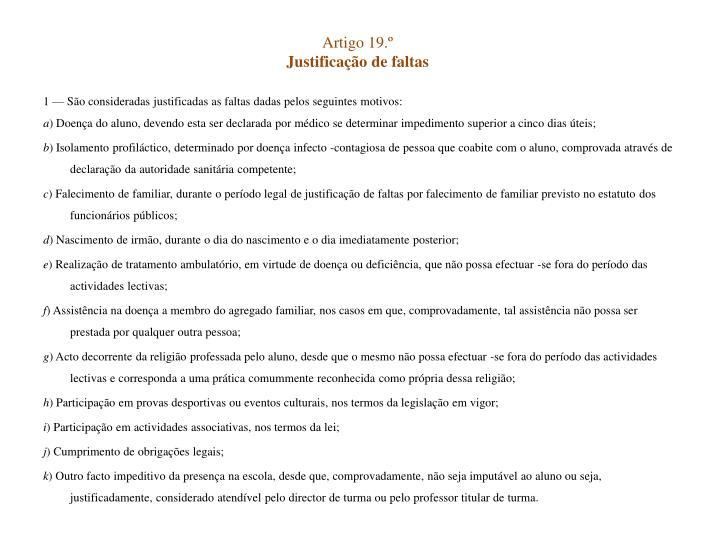 Artigo 19.º